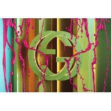 """Liquid Luxury Gold"" Canvas Art"