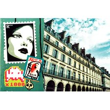 'Postcards From Paris' Graphic Art on Canvas