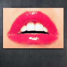 """""""Red Sexy Kisses"""" Canvas Art"""