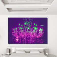 """Liquid Chandelier Purple"" Canvas Art"