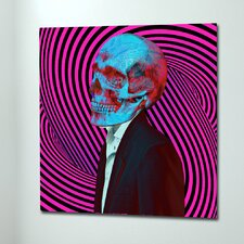 """Daydreaming Skull Pink"" Canvas Art"