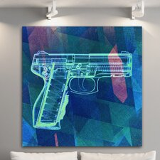 """Xray Gun Blue"" Canvas Art"