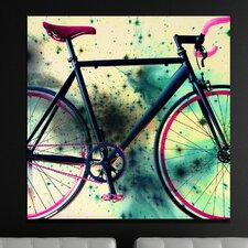 """Space Bike Reverse"" Canvas Art"