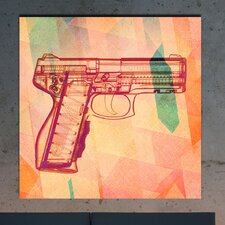 """Xray Gun Red"" Canvas Art"
