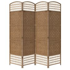 "66.75"" x 63.25"" 4 Panel Room Divider"