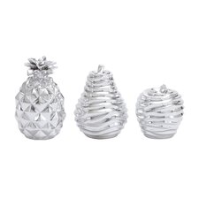 3 Piece Fruit Display Figurine Set