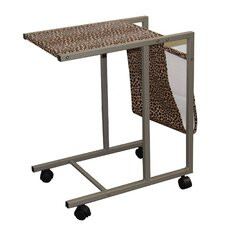 Leopard Print Laptop Cart