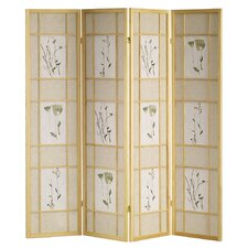 4 Panel Room Divider in Natural