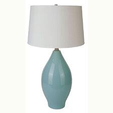 """Ceramic 28"""" H Table Lamp with Drum Shade"""