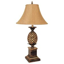 """Pineapple 33"""" H Table Lamp with Bell Shade"""