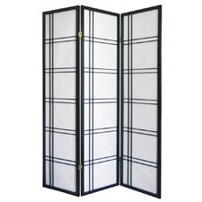 Girard 3 Panel Room Divider in Black
