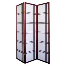 Girard 3 Panel Room Divider in Cherry