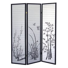 "70"" x 51"" Scenery 3 Panel Room Divider"