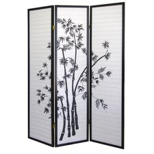 """70"""" x 51"""" Bamboo 3 Panel Room Divider"""