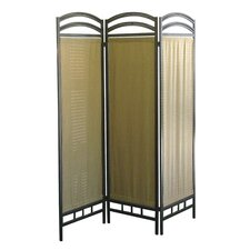 3 Panel Room Divider in Pewter