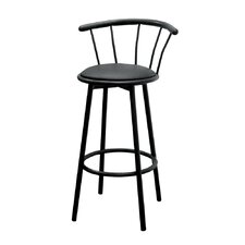 "29"" Swivel Barstool in Black (Set of 2)"