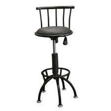 Swivel Barstool with Adjustable Height in Black