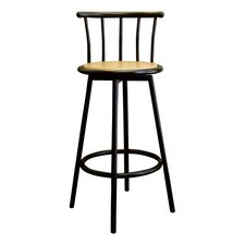 Swivel Barstool in Black (Set of 2)