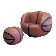 <strong>ORE Furniture</strong> Basketball Kid's Sports Novlety Chair and Ottoman Set