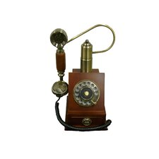 Classic Telephone with Drawer in Mahogany