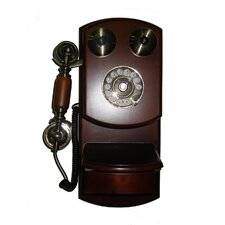 <strong>ORE Furniture</strong> Classic Wall Telephone in Mahogany