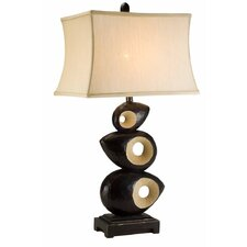 "African Craft 33"" H Table Lamp with Rectangle Shade"