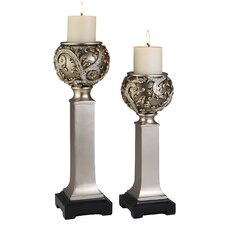 Vine 2 Piece Candle Holder Set