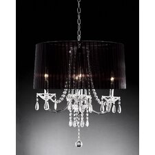 <strong>ORE Furniture</strong> Crystal Drop 6 Light Chandelier