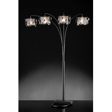 Crystal 4 Light Arch Floor Lamp
