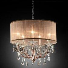 Rosie Crystal 6 Light Ceiling Lamp
