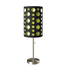 "Retro 33"" H Table Lamp with Drum Shade"