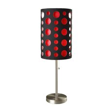 "Retro 33"" H Table Lamp"