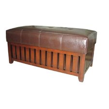 <strong>ORE Furniture</strong> Wooden Storage Bench with Faux Leather Cushion