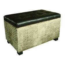 <strong>ORE Furniture</strong> Chanille and Faux Leather Storage Bench