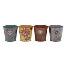 Metal Pot Planter (Set of 4)