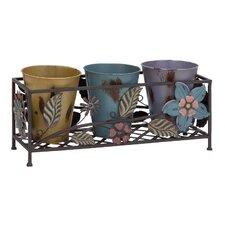 4 Piece Metal Planter Set