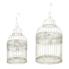<strong>ORE Furniture</strong> 2 Piece Metal Bird Cage Set