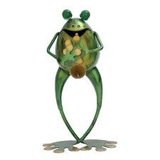 Metal Musician Frog Figurine