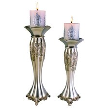 2 Piece Metal Votive Candle Holder Set