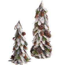 Pinecone Styrofoam and Paper Tree (Set of 2)