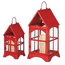 2 Piece House Lantern Set