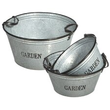 <strong>Midwest Seasons</strong> Round Pot Planter (Set of 3)