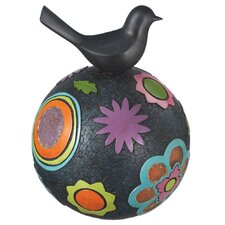 Bird on Colorful Ball Figurine