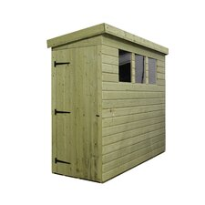 Pent Shed with 3 Left Windows