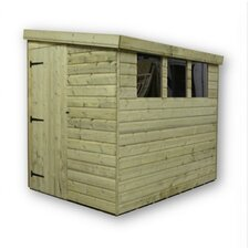 Reversed Pent Shed with 3 Left Windows