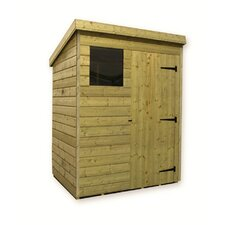 Pent Shed with Right Window