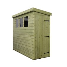Pent Shed with 3 Right Windows