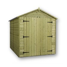 Premier Apex Shed with Double Door and 6 Windows