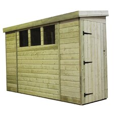 Reversed Pent Shed with 3 Right Windows