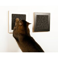 <strong>Square Cat Habitat</strong> Itch Wall Wood Cat Scratcher